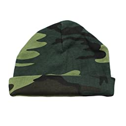 Crazy Baby Clothing Infant Baby Beanie One Size in Woodland Camo