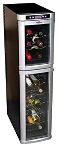 Koolatron WC18 18-Bottle Freestanding Dual-Zone Tower Wine Cellar