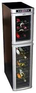 Koolatron WC18 18-Bottle Freestanding Dual-Zone Tower Wine Cellar