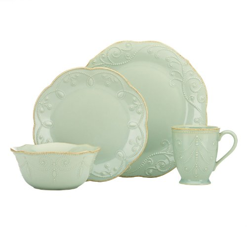 Lenox French Perle Ice Blue Four 4 Pc Place Setting