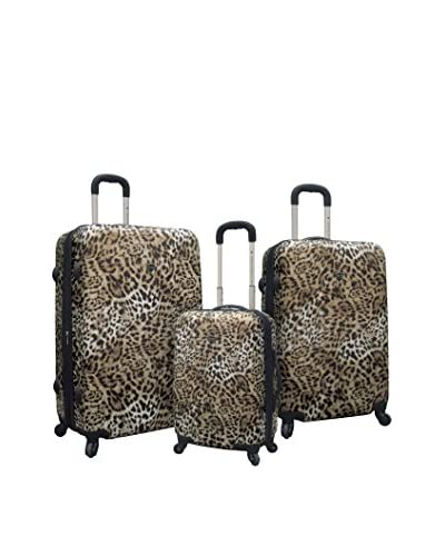 Travelers Polo And Raquet Club 3Pc Expandable Abs Luggage Set W/ 360˚ 4-Wheel System