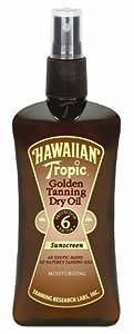Hawaiian Tropic Golden Tanning Oil Spray SPF 6 (8 oz.) (Pack of 3)