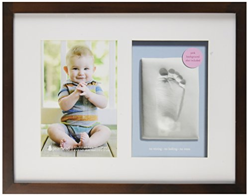 Pearhead Babyprints Wall Frame, Espresso (Discontinued by Manufacturer)