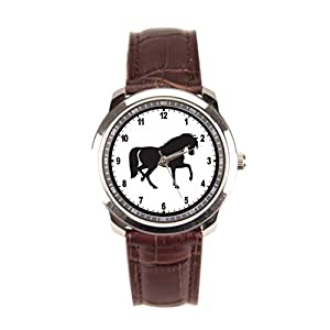 Dr. Koo Pony Leather Wristband Watch Ponies Simple Leather Watch