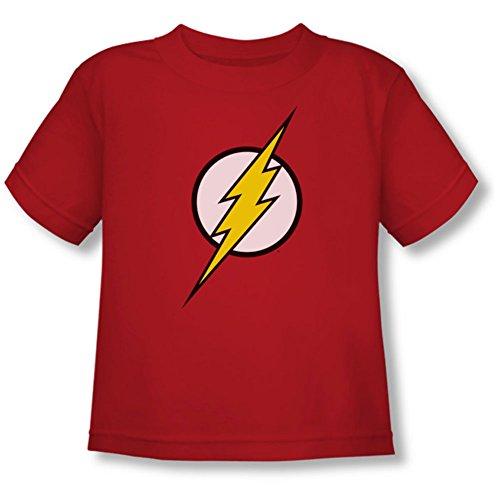 Justice League Of America Flash Logo Short Sleeve Little Boys Tee Shirt