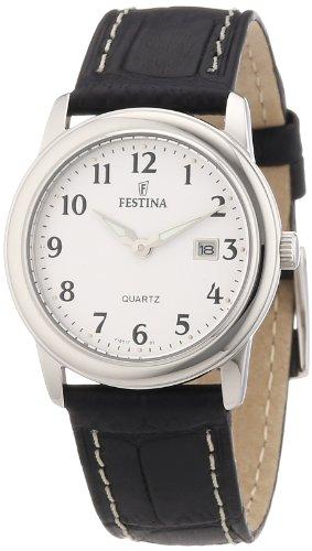 Festina F16517/1 - Reloj analógico de cuarzo para mujer con correa de piel, color negro