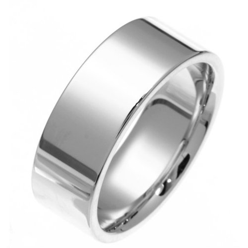 Sterling Silver, Flat Style 8MM Wedding Band (sz 7)