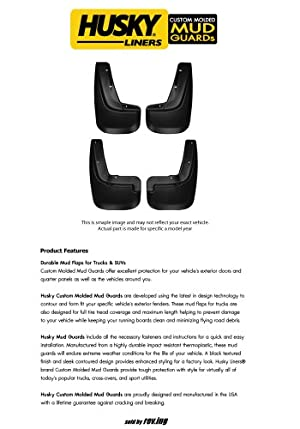 2007 – 2010 Ford Explorer Sport Trac – Husky Liners – Custom Molded Splash Guard Mud Flap – Front & Rear