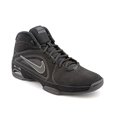 Nike Women's Air Visi Pro III Nubuck Basketball Shoe Black/Gray (8.5)
