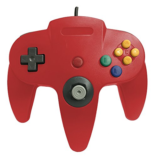 Old Skool Classic Wired Controller Joystick for Nintendo 64 N64 Game System - Red (Old Game Consoles Nintendo compare prices)