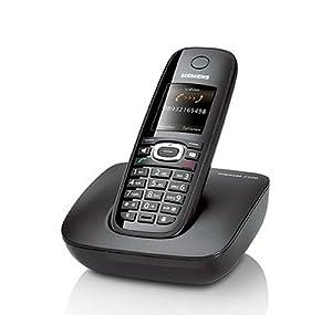 Siemens Gigaset C590 Schnurlostelefon (Farb-Display, Komfort-Freisprechen) schwarz