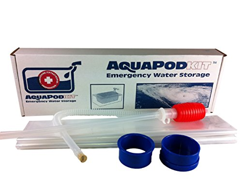 Emergency Drinking Water Storage by AquaPodKit - Made in America (65 Gallons) (Bath Tub Water Bag compare prices)