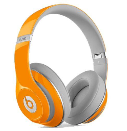 Beats By Dr. Dre Studio 2 Over-Ear Headphones (Orange) Bundle With Beats Cable With Microphone And Custom Designed Zorro Sounds Cleaning Cloth