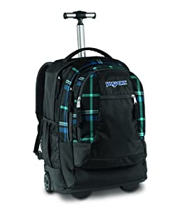 Driver 8 Wheeled Backpack Blackblue Perry Plaid