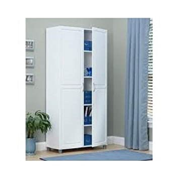 ... White Kitchen Pantry Cabinet With Amazon.com: White Inch Door Storage  Cabinet Kitchen Pantry