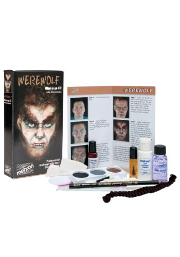 Mehron Premium Werewolf Character Kit (Crepe Hair Grey compare prices)