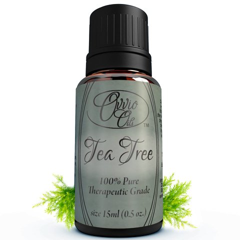 Tea Tree Oil By Ovvio Oils - Pure Australian Tea Tree Essential Oil - Melaleuca Alternifolia - Is All Natural, Therapeutic Grade Essential Oil - Antifungal and Aids Healing Skin Acne, Wounds, Bites, and Rashes - Diffuse to Help Breathe Easier and Clear S