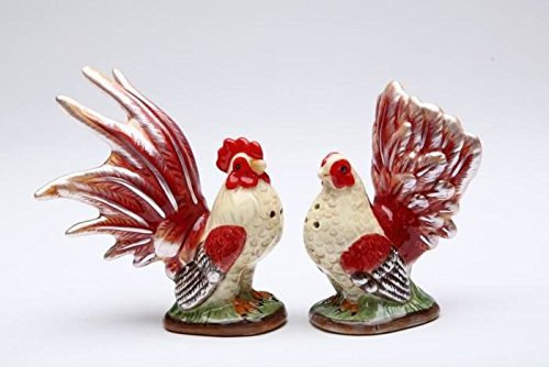 Red Rooster Themed Salt and Pepper Shaker Set
