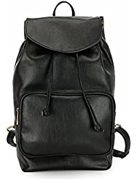 The House Of Tara Vegan Leather Backpack (Pirate Black) HTBP 135