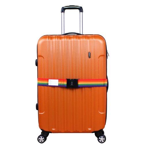 20822438c9 ... DABADA(ダバダ) スーツケースベルト ダイヤル式 TSAロック付き (レインボー, TSA ...