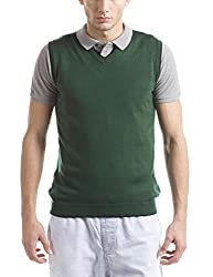 Prym Men's Acrylic Sweater (8907423022690_2011521502_Medium_Green)