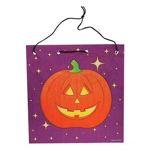 Jack O Lantern Drawstring Goodie Bags - 12 per pack - 1