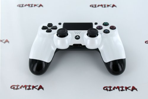 """White Pearl & Black Candy Combo"" PS4 Custom Modded Controller Exclusive Design - COD Ready Zombie Auto Aim, Drop Shot, Fast Reload, & Menu for Ghost !"