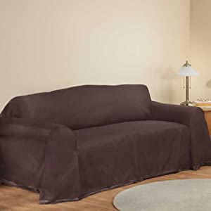 New Furniture Throw Covers Loveseat Throw Cover 70 X 120 Brown Home Kitchen