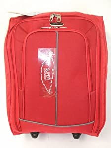 Red 40l Borderline 2 Wheeled Super Lightweight Hand Luggage Holdall Onboard Flight Bag Cabin Suitcase by Borderline