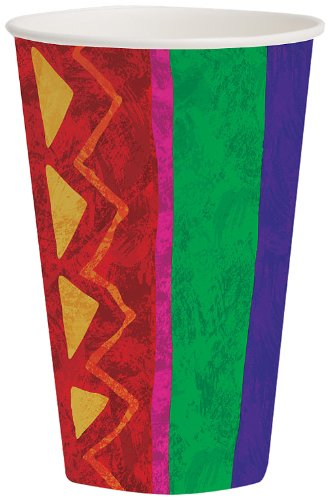 Creative Converting 8 Count Hot or Cold Beverage Cups, Fiesta Festive - 1