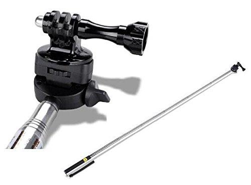 "Ipow Telescoping Extendable Handheld Handle Monopod Pole + Thumbscrew +Tripod Mount And Wrist Strap Accessory Kit For Gopro Hero1 Hero2 Hero3 Camera 9-41"""