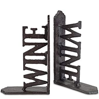 Unique Metal Wine Bookends