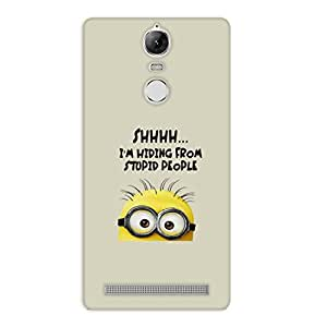 Happoz Lenovo Vibe K5 Note Cases Back Cover Mobile Pouches Shell Hard Plastic Graphic Armour Premium Printed Designer Cartoon Girl 3D Funky Fancy Slim Graffiti Imported Cute Colurful Stylish Boys D056