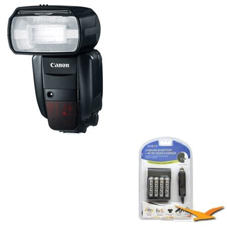 Canon Speedlite 600EX-RT Professional Camera Flash Battery And Diffuser Kit – Includes Speedlite 600EX-RT Professional Camera Flash, AA Rapid Multivoltage AC/DC Charger (100-240v) with 4-3100mah AA Batteries