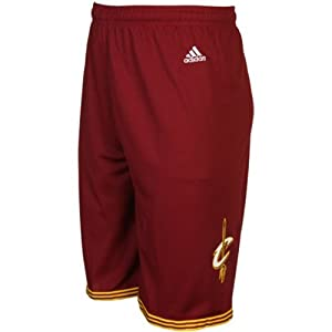 Buy Cleveland Cavaliers NBA Youth Road Shorts Maroon by adidas