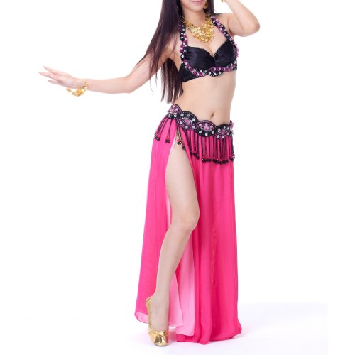 BellyLady Women's Belly Dance Gypsy Tribal Costume Bra Top and Belt Set