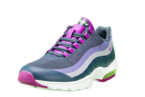 Nike Women's Air Max 95 Ultra Athletic Sneaker Shoe-Squadron Blue/Vivid Purple (8) (Women Nike Air Max 95 compare prices)