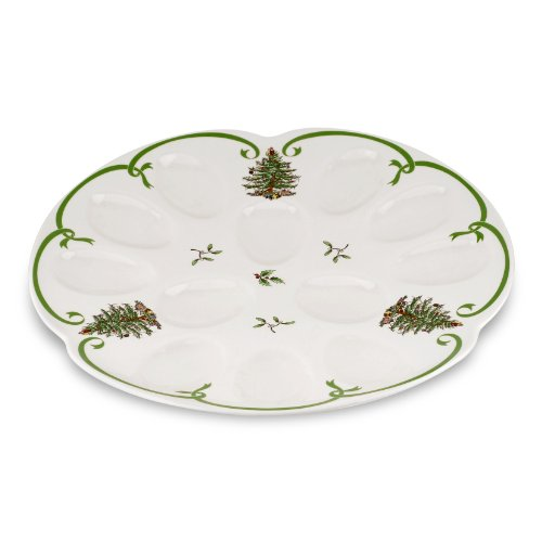Spode Christmas Tree Devilled Egg Dish (Devilled Eggs Plate compare prices)