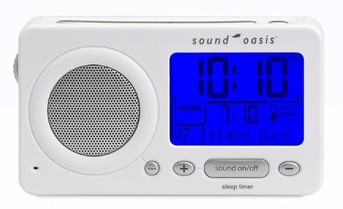 Sound Oasis S-850W Travel Sleep Sound Therapy System, White