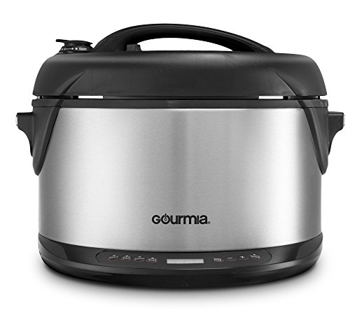Gourmia Multifunction Electric 1-Hour Hot & Cold Smoker, Pressure Cooker, Slow Cooker and Steamer - 6.5 Qt - With Delay Timer & Removable Racks - 1300W - GPS650 (Variable Temperature Slow Cooker compare prices)