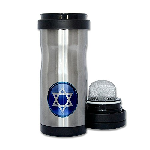 Thermos Tea Tumbler Bottle Blue Star Of David Jewish
