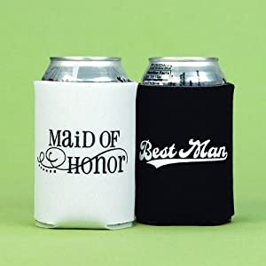 Exclusively Weddings Maid of Honor and Best Man Can Coolers by Exclusively Weddings
