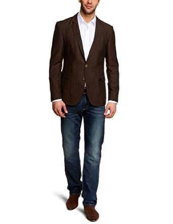 Strellson Premium Herren Sakko Slim Fit 11002287 / Carson-W, Gr. 46, Braun (651)