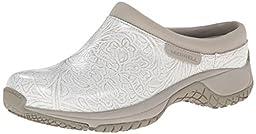 Merrell Women\'s Encore Slide Pro Lab Slip Resistant Work Shoe, White, 8.5 M US