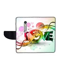 KolorEdge Printed Flip Cover For Motorola Moto X Play Multicolor - (1479-55KeMLogo11654MotoXPlay)