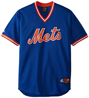 MLB New York Mets 1969 Cooperstown Short Sleeve Synthetic Replica Jersey by Majestic