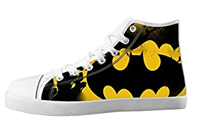 Custom High Top Lace Up Canvas For Men's Shoes For Batman Individualized Design-11M(US)