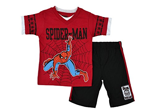 Alfa Global Boy'S Toddler Spiderman Short 2 Psc Set 6T back-303692