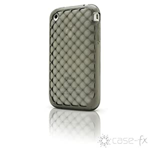 Case-FX Flex Cube Case for iPhone 3G / 3GS (Graphite) + Bonus: Case-FX Reveal Screen Protector for iPhone 3G / 3GS (Clear)