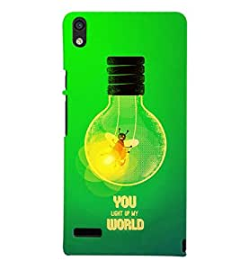 Fuson 3D Printed Quotes Designer back case cover for Huawei Ascend P6 - D4525
